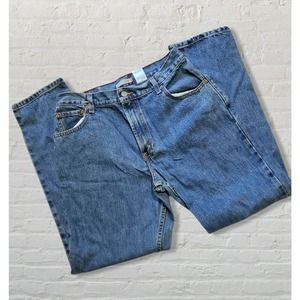 Vintage Levi's 550 Relaxed Tapered stone Wash Blue Jeans high rise mom 14